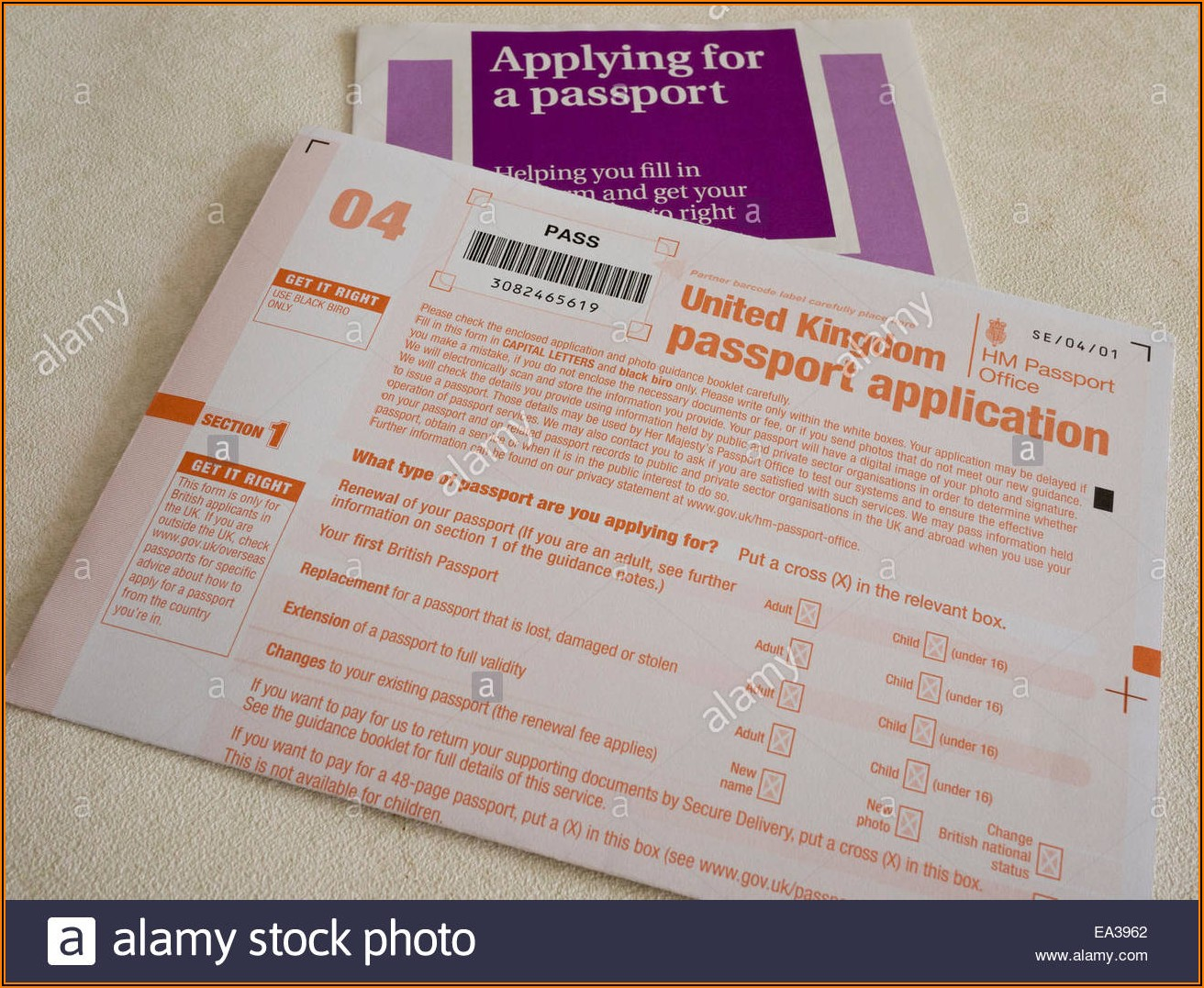 British Passport Renewal Forms Australia