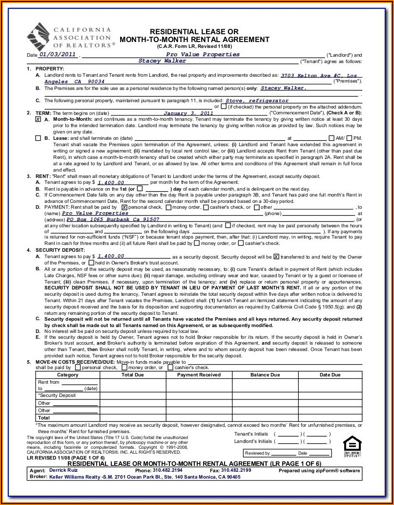 California Commercial Lease Agreement Form