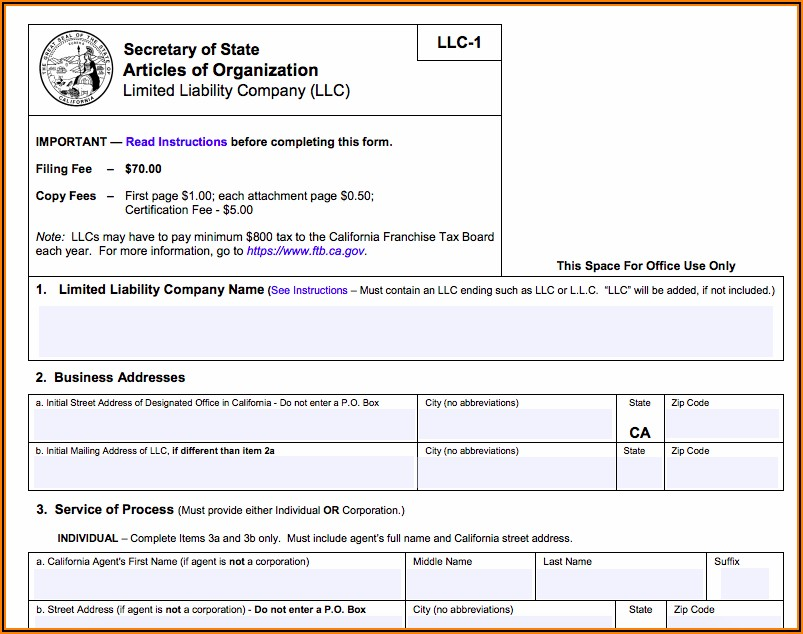 California Dba Filing Form