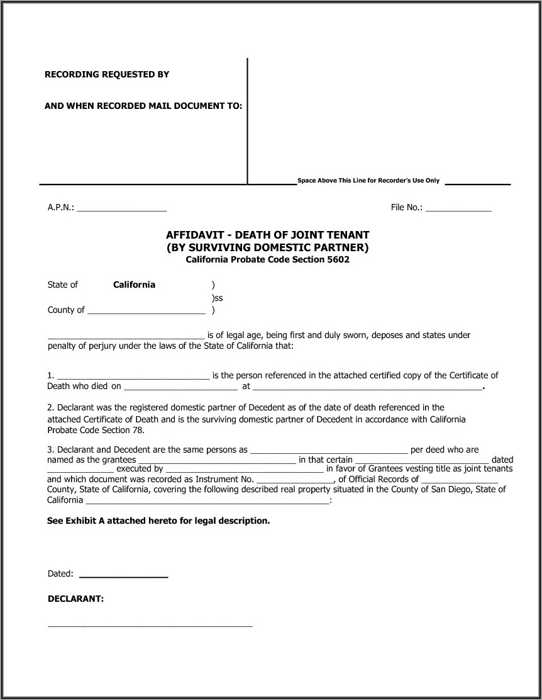 California Joint Tenancy Grant Deed Form