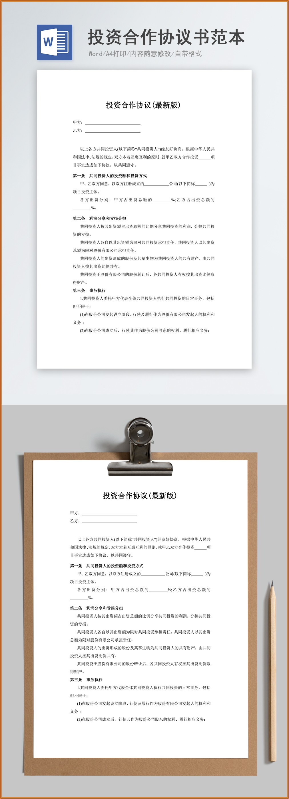 Car Rental Document Template