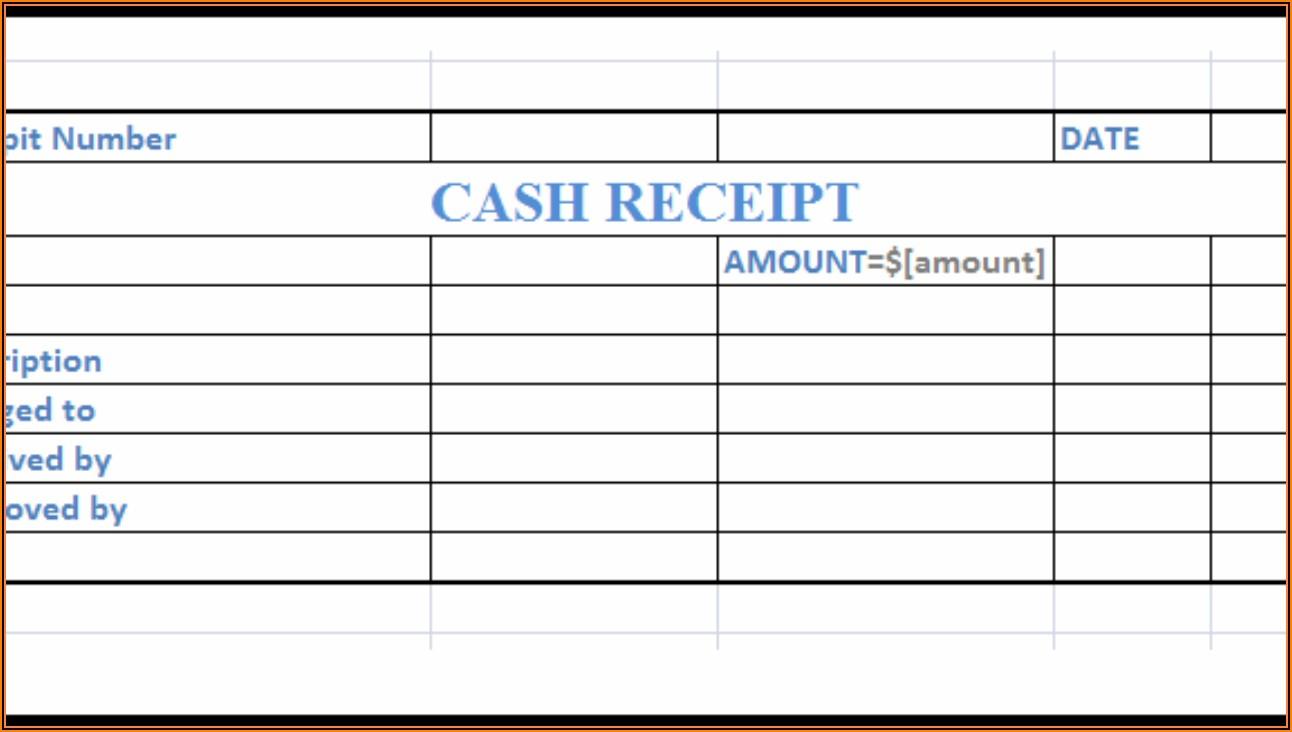 Cash Receipt Format Excel