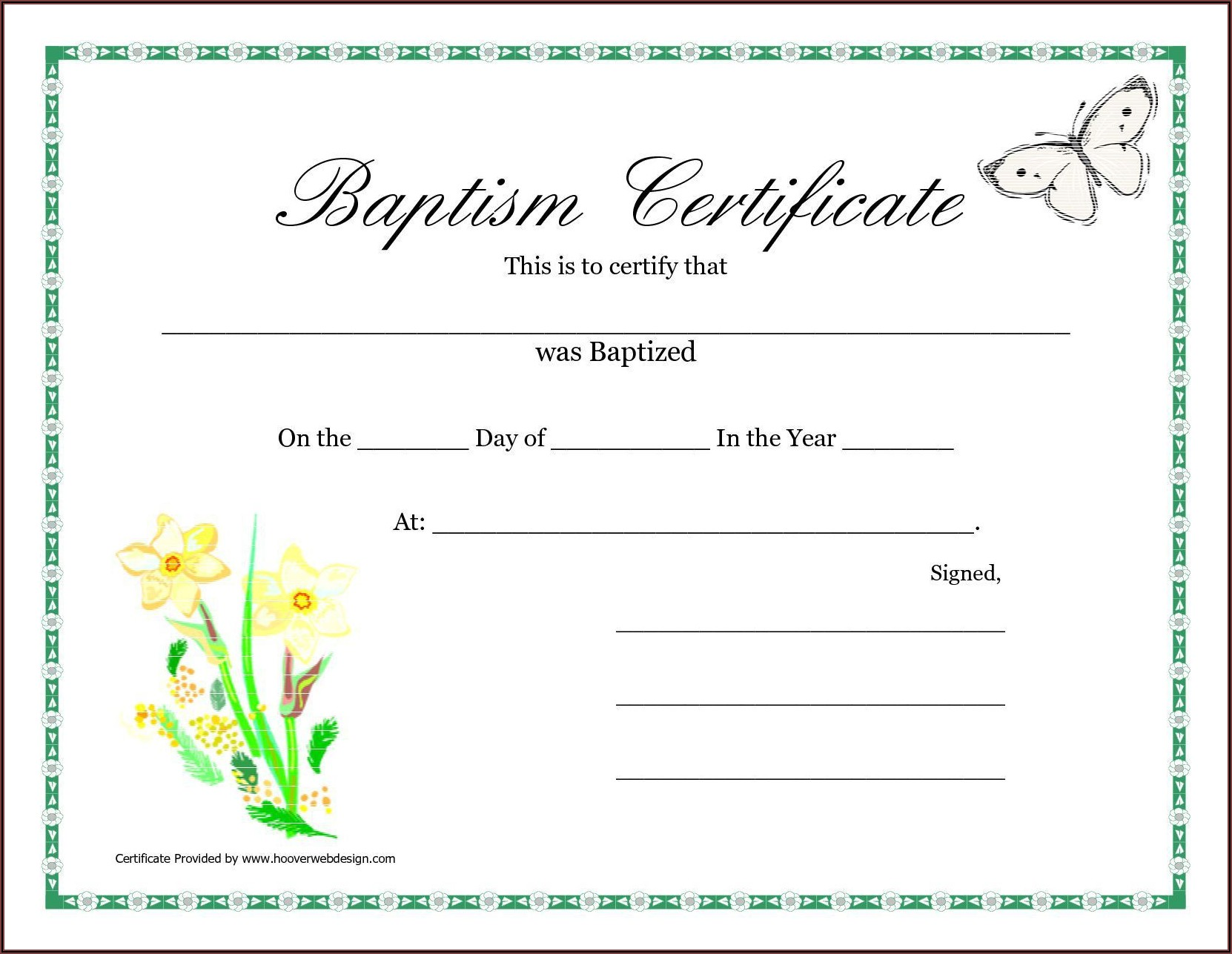 Christening Certificates Templates Free