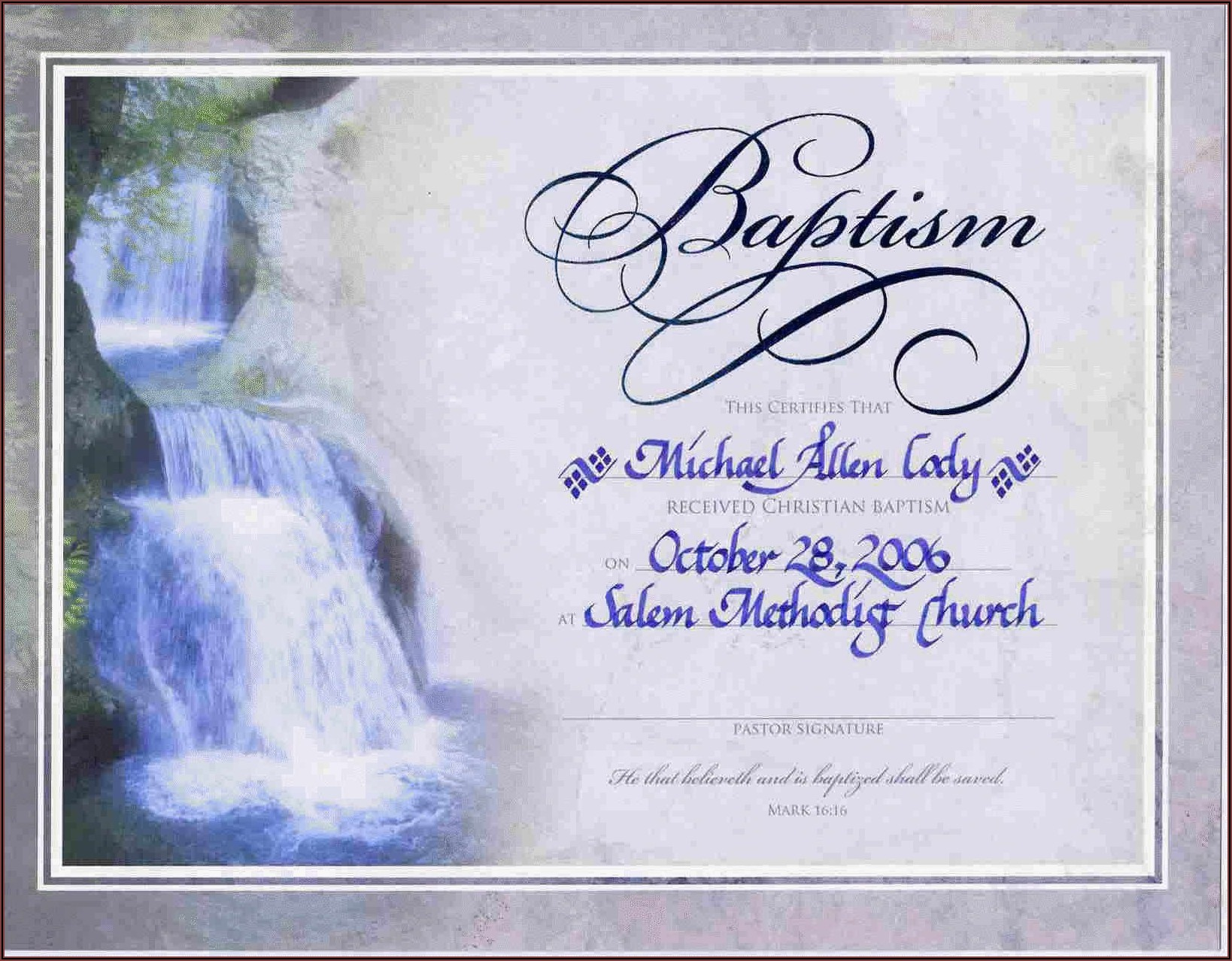 Christening Certificates Templates