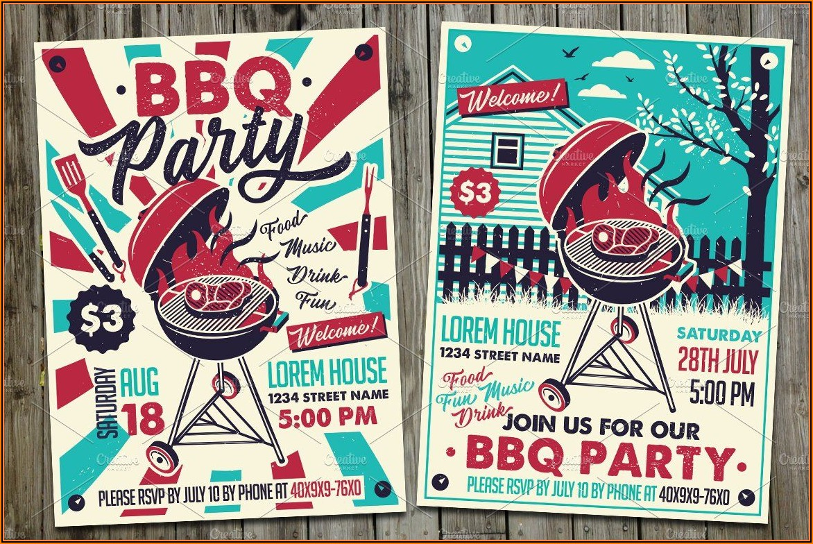 Christmas Bbq Invite Template