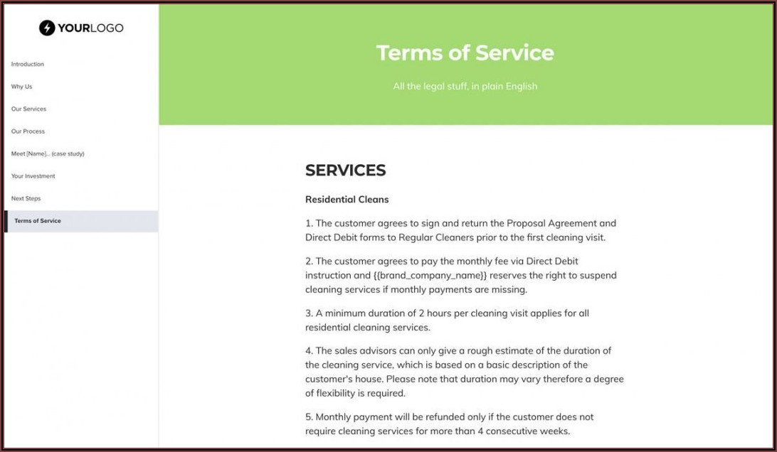 Cleaning Quotation Templates Free