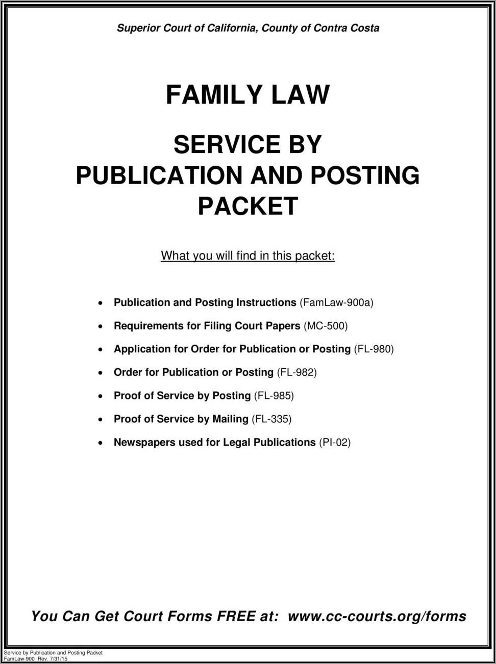 Contra Costa County Divorce Forms
