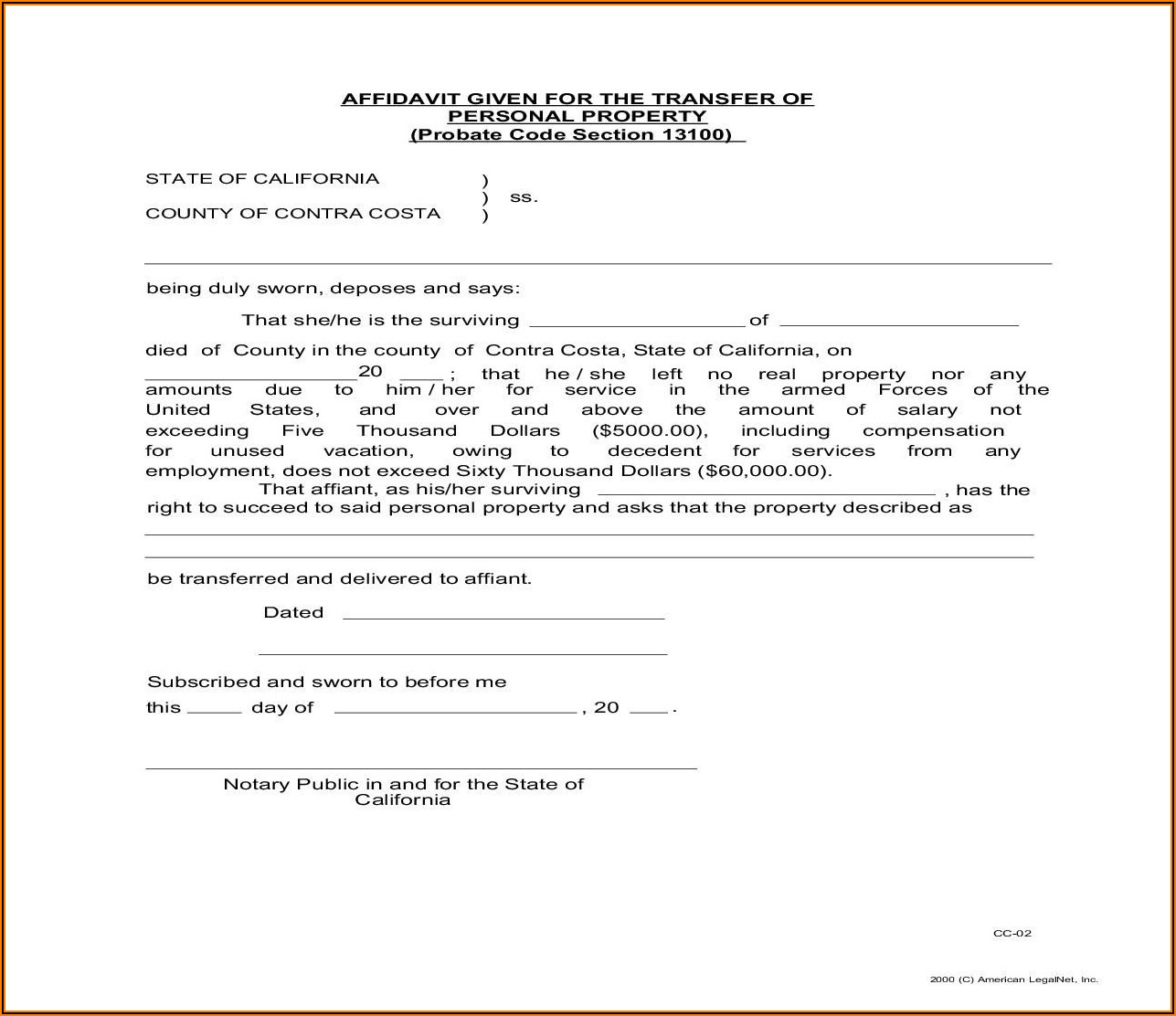 Contra Costa County Probate Court Forms