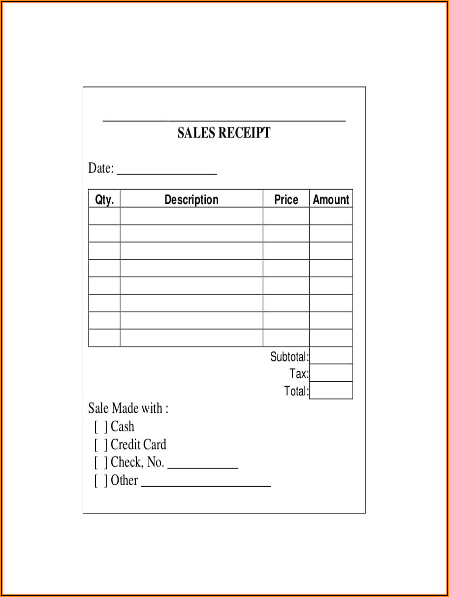 Credit Card Payment Invoice Template
