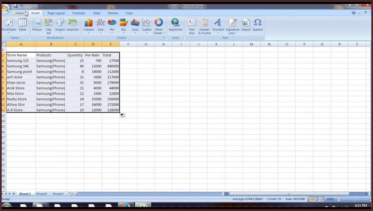 Daily Sales Report Format Excel Free Download