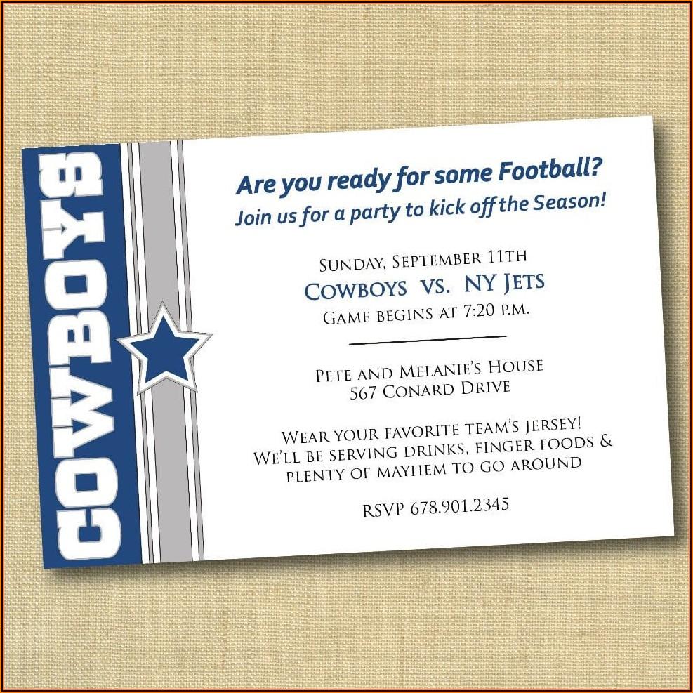 Dallas Cowboys Birthday Invitation Template