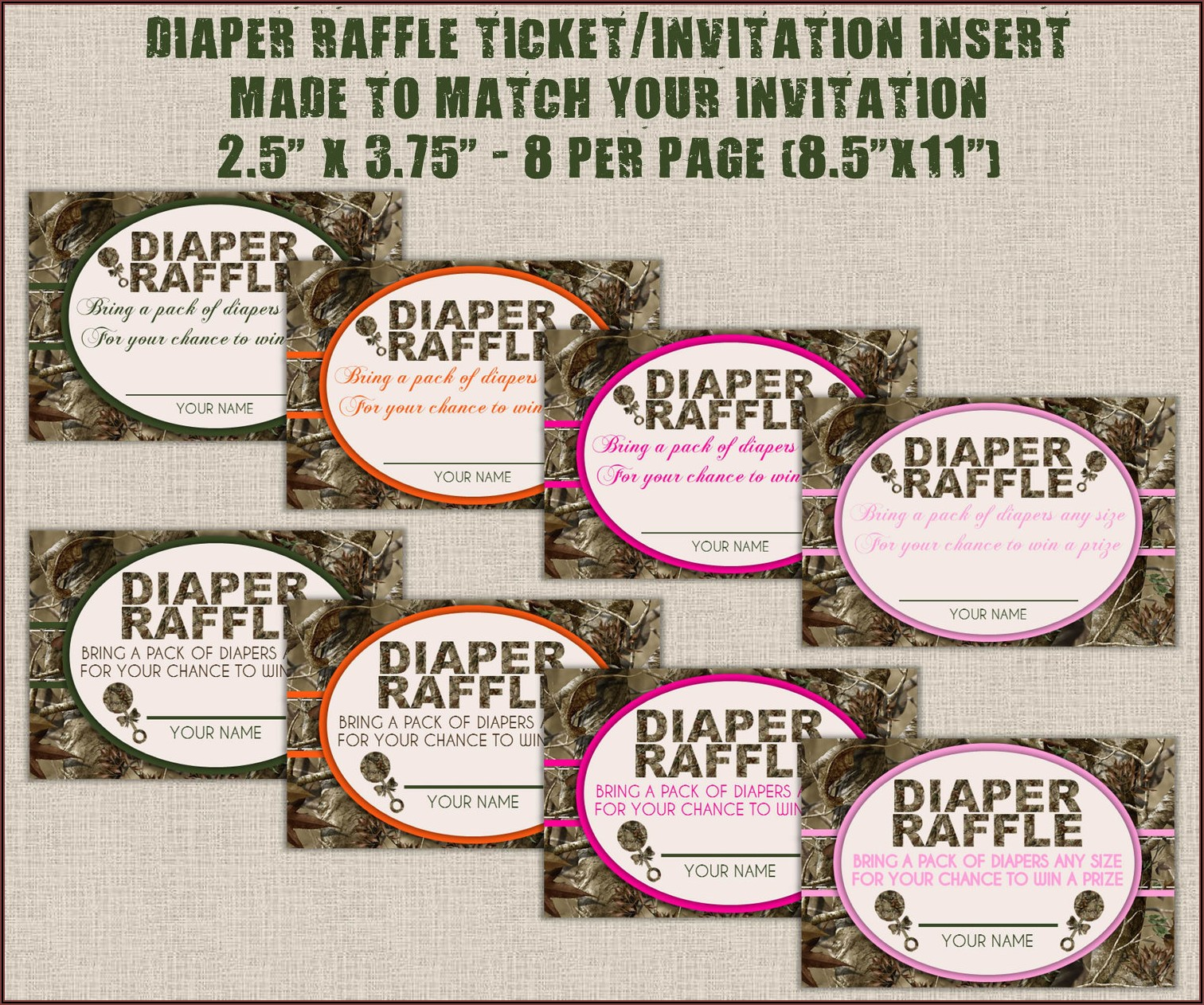 Diaper Raffle Tickets Free Template