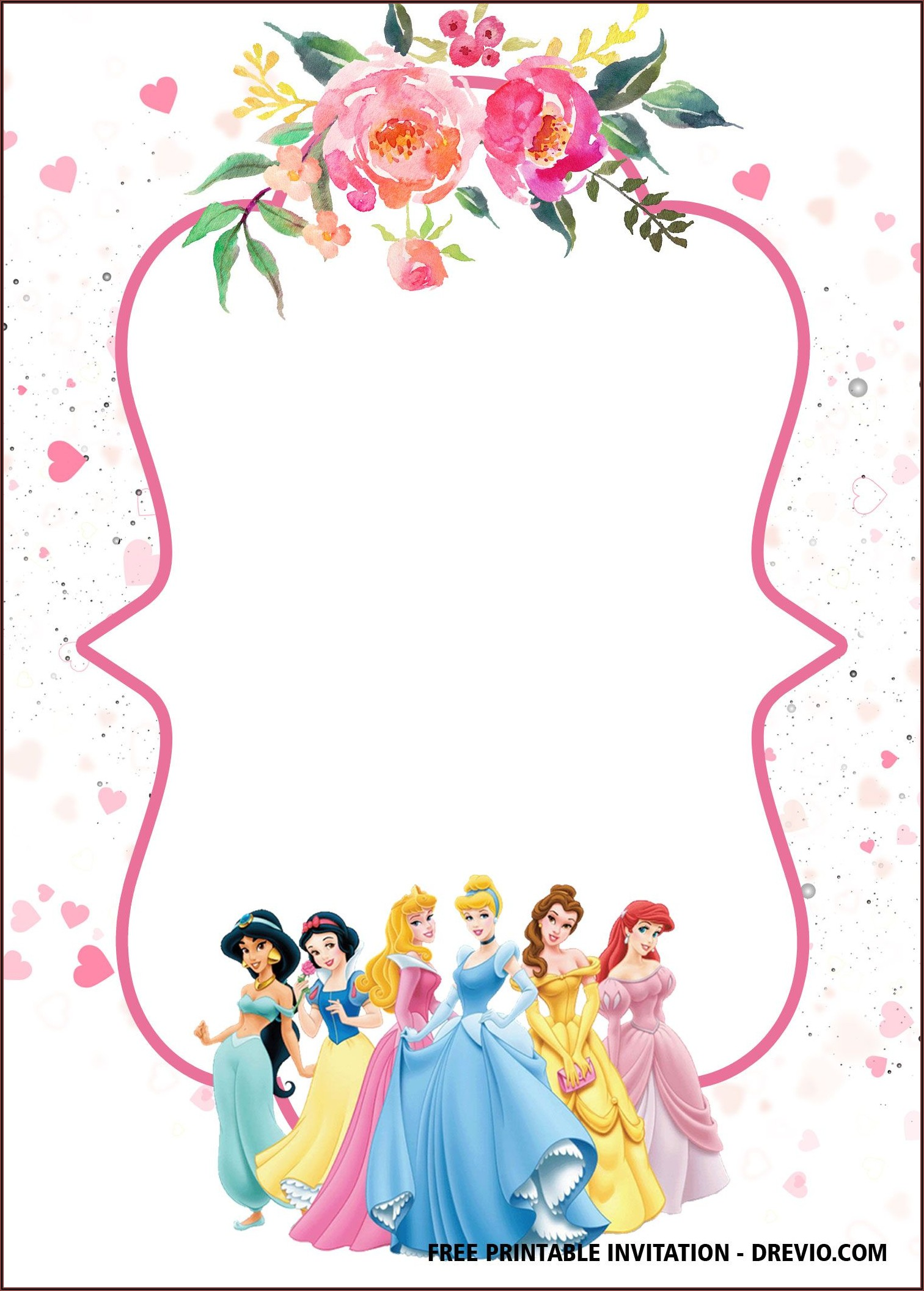 Disney Princess Party Invitations Templates Free