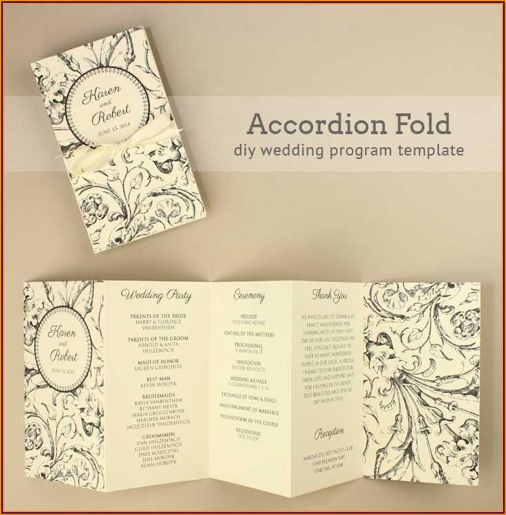 Editable Free Downloadable Wedding Program Templates Microsoft Word