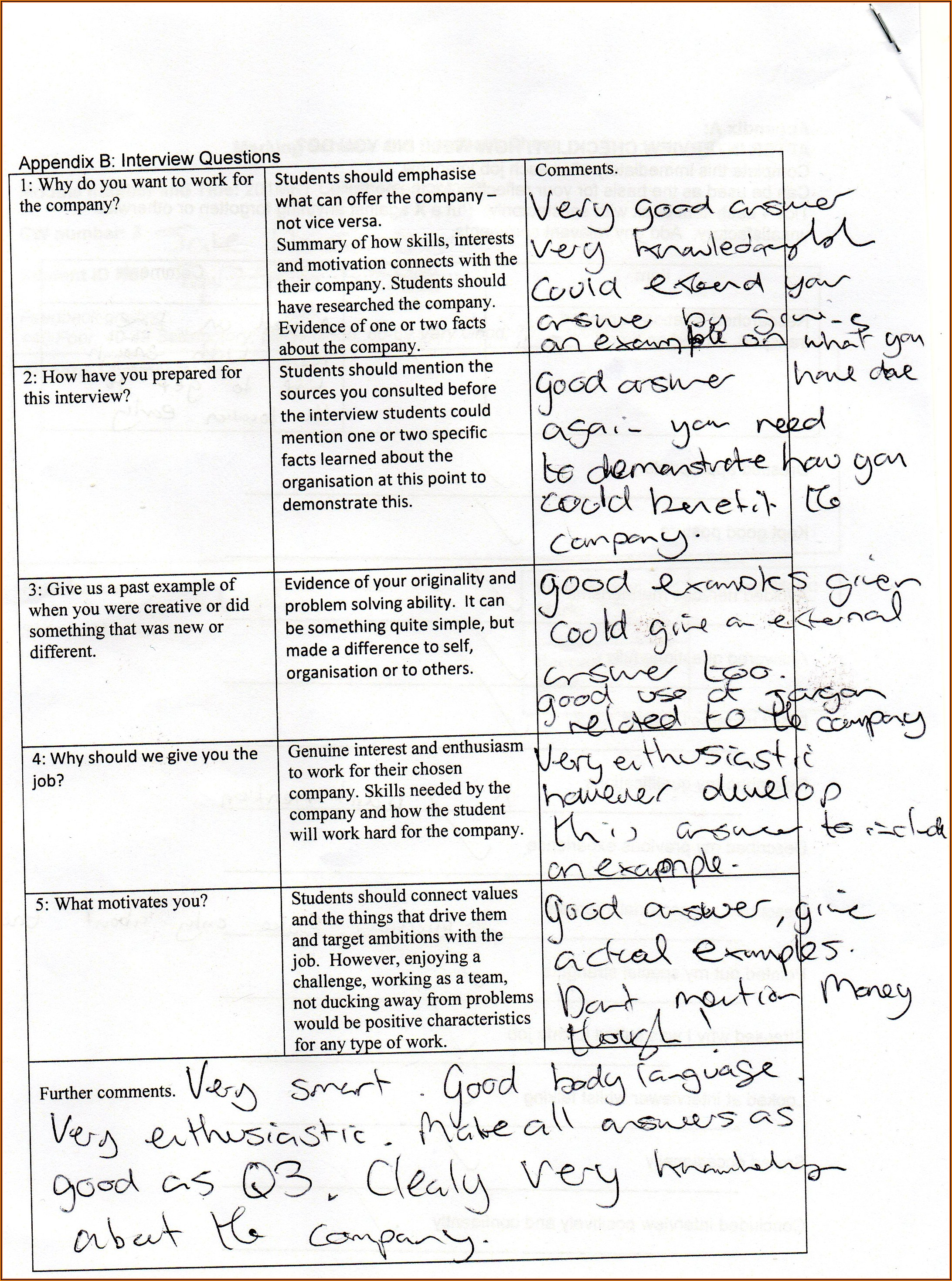 Employee Evaluation Sample Comments