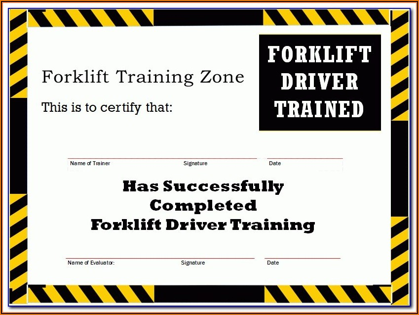 Forklift Certification Badge Template
