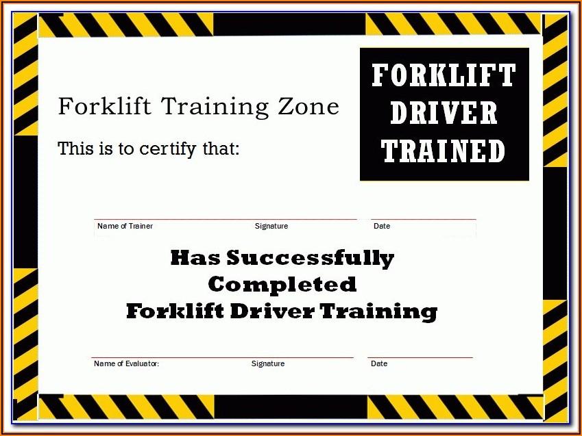 Forklift Certification Badge Template