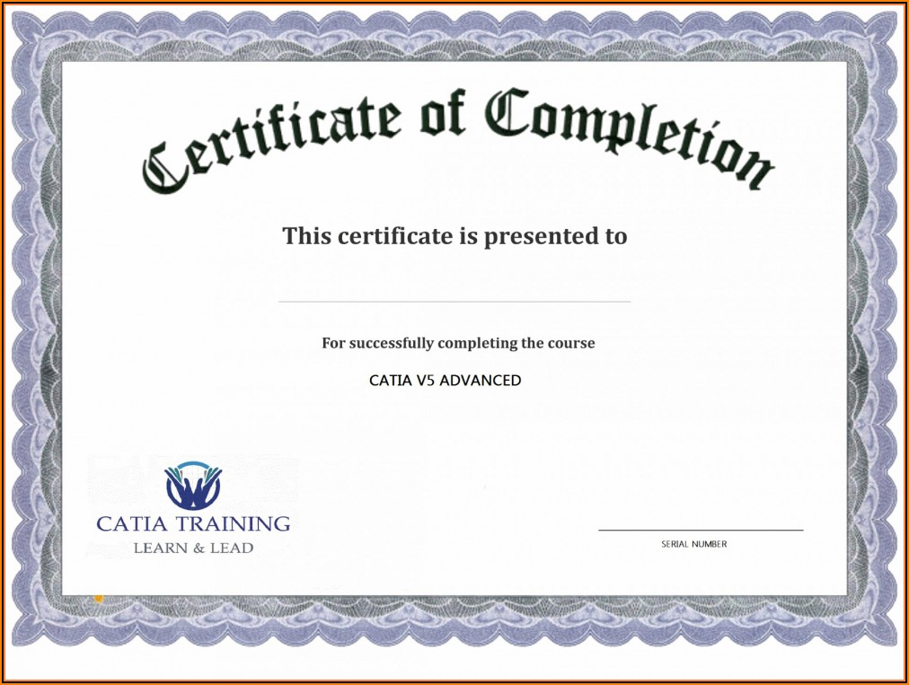 Forklift Training Certificate Template Free