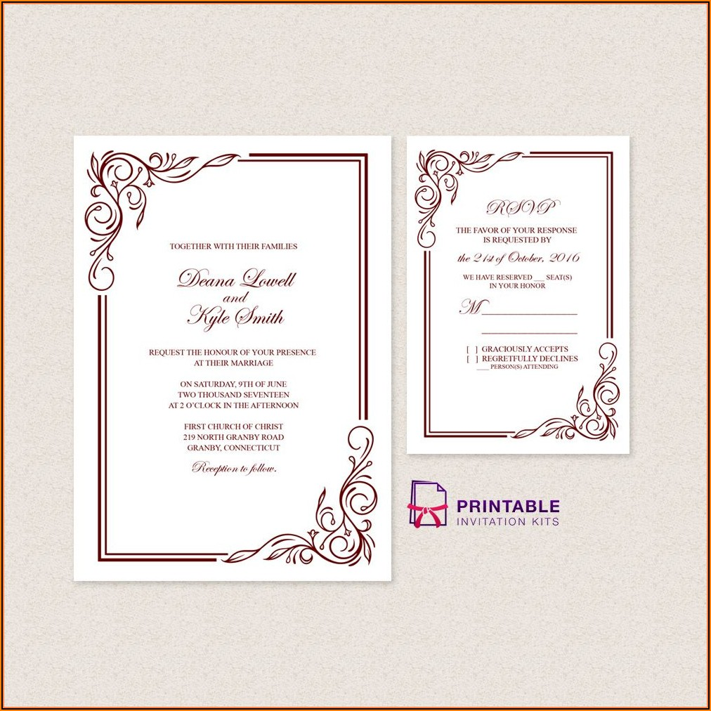 Free 3x5 Invitation Template