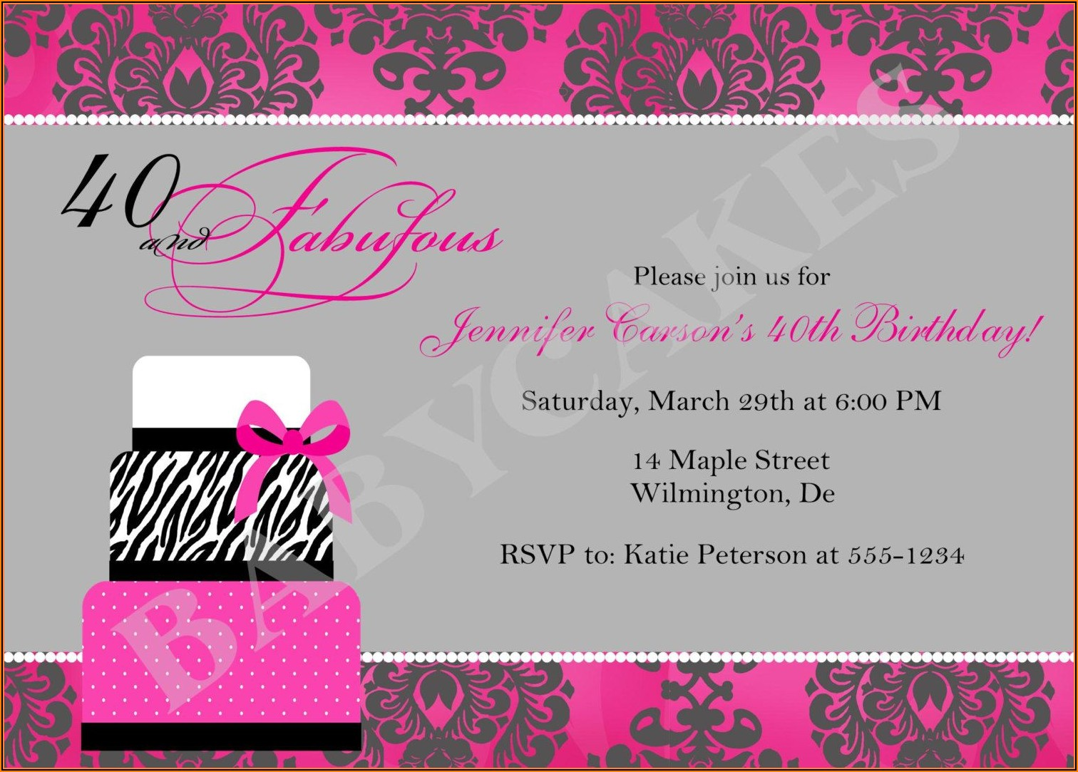 Free 40th Birthday Party Invitation Templates