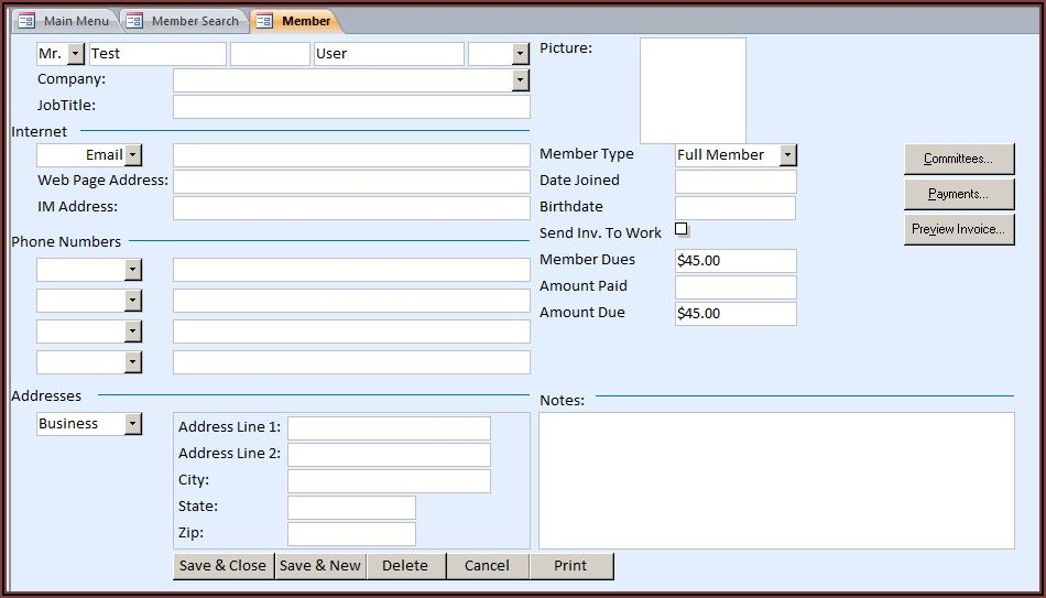 Free Access 2016 Database Templates