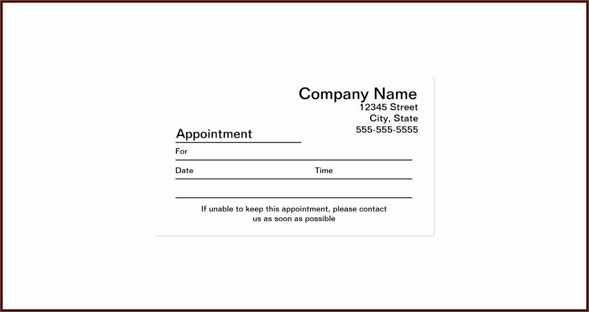 Free Appointment Reminder Template