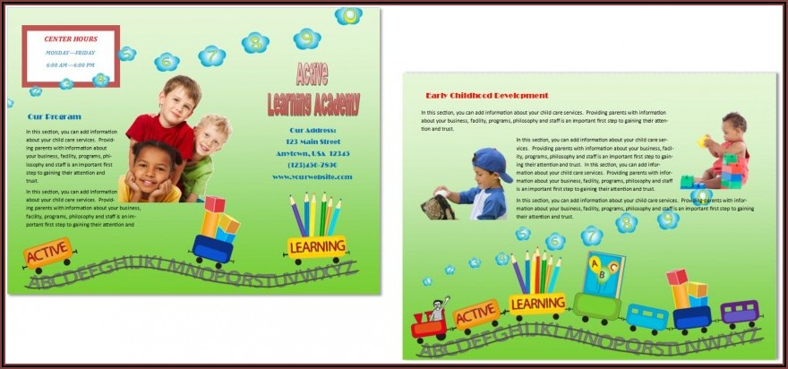 Free Child Care Flyer Templates Word