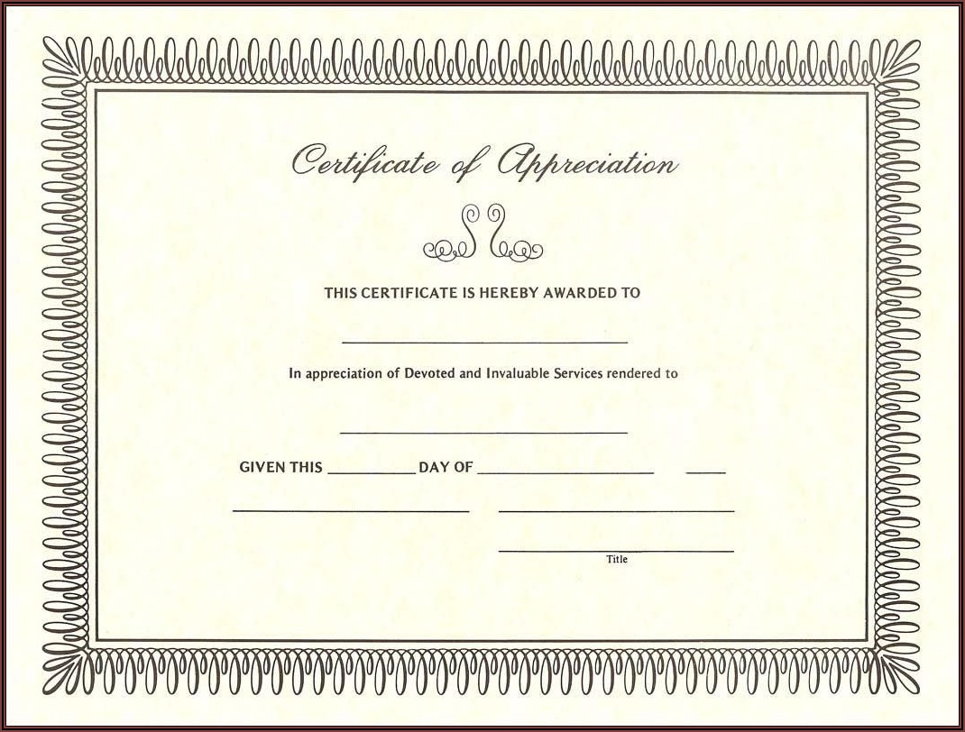 Free Christian Certificate Of Appreciation Template