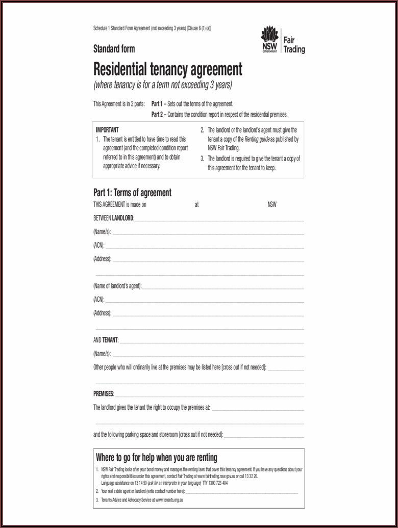 Free Commercial Lease Agreement Template Western Australia