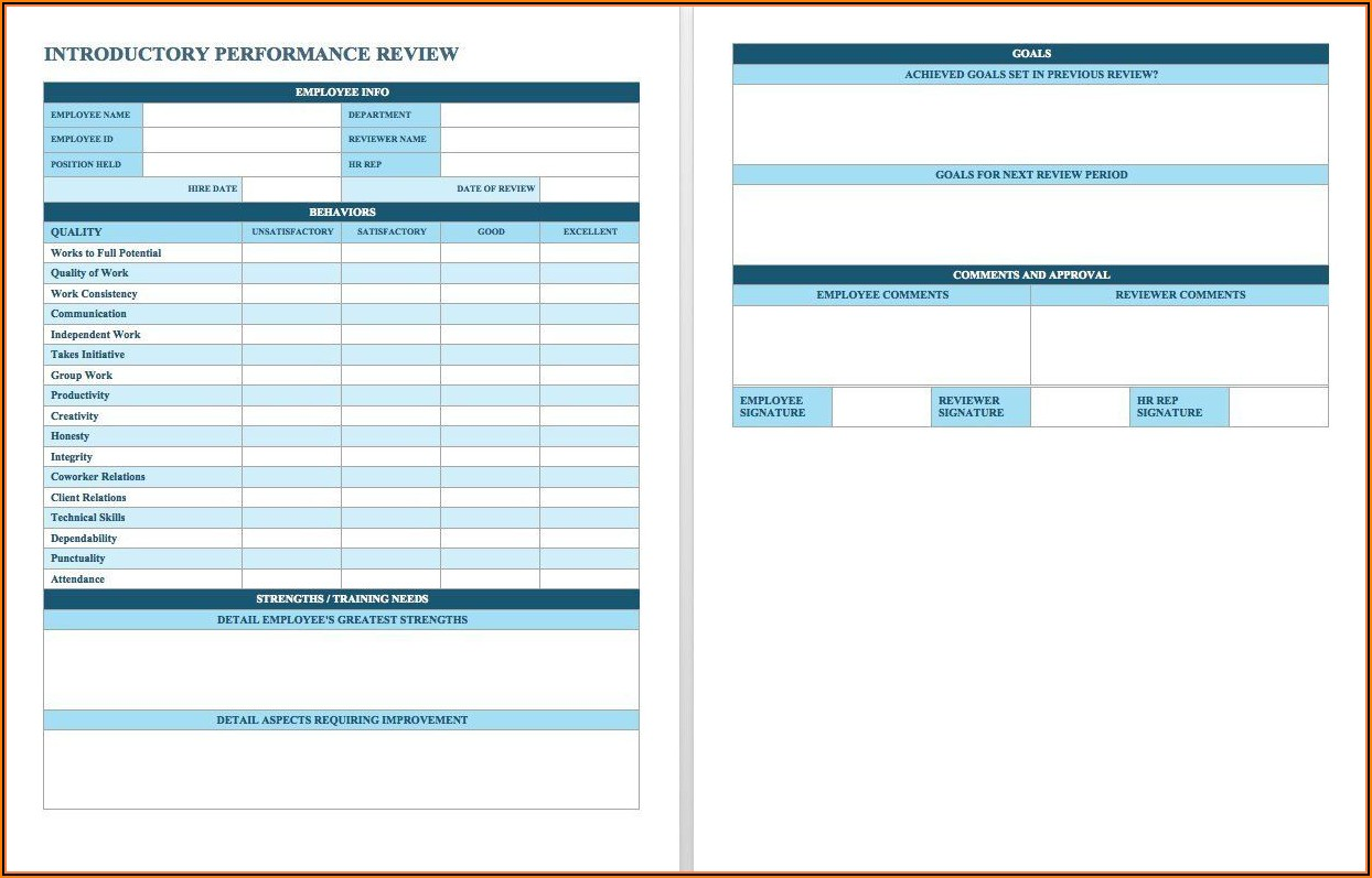 Free Employee Review Template