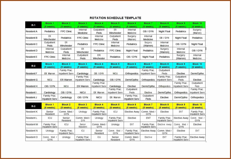 Free Excel Employee Schedule Template