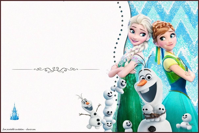 Free Frozen Birthday Party Invitation Templates