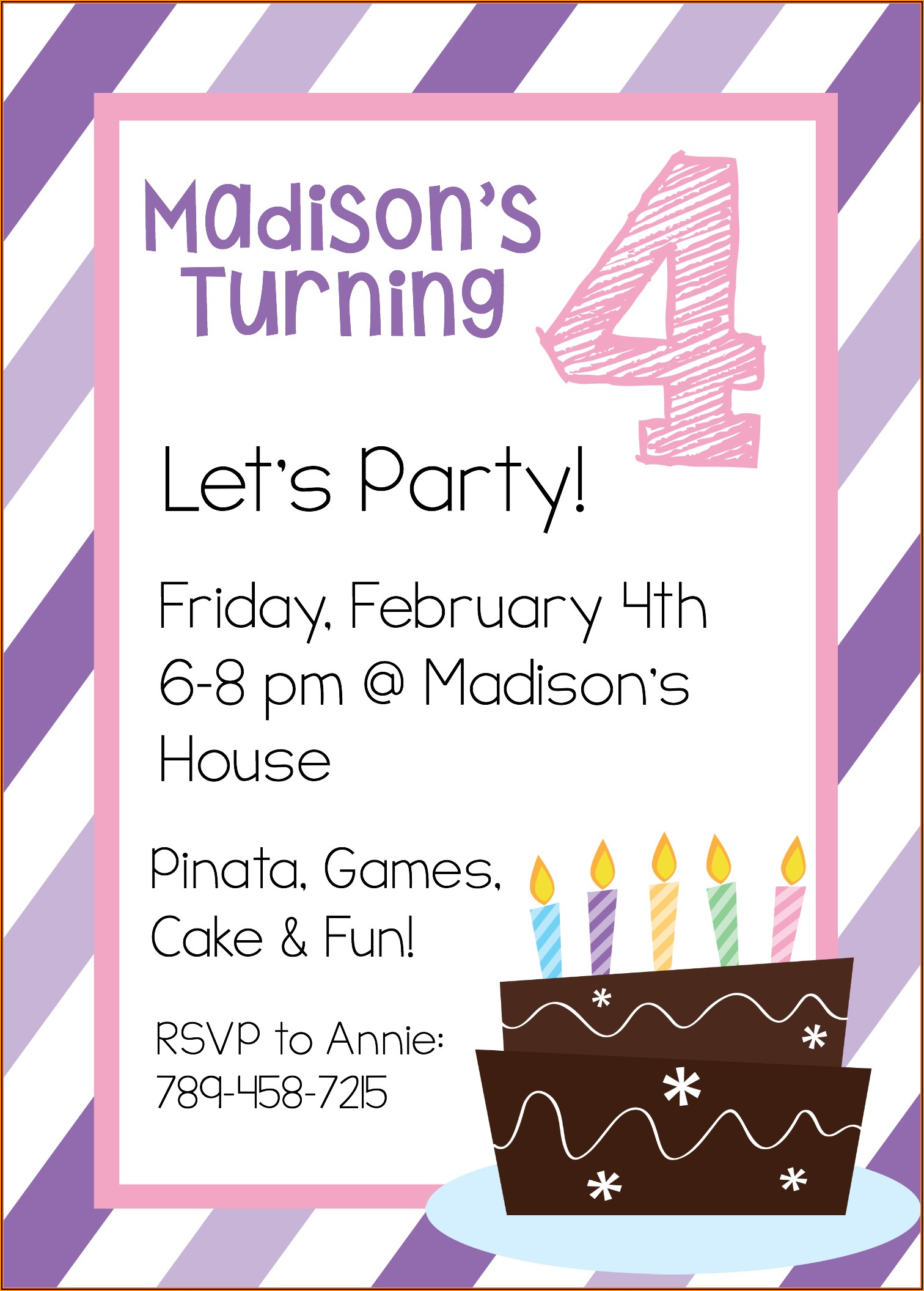 Free Invitation Templates For Birthday Party