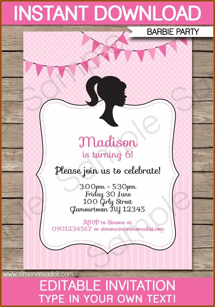 Free Invitation Templates For Birthday