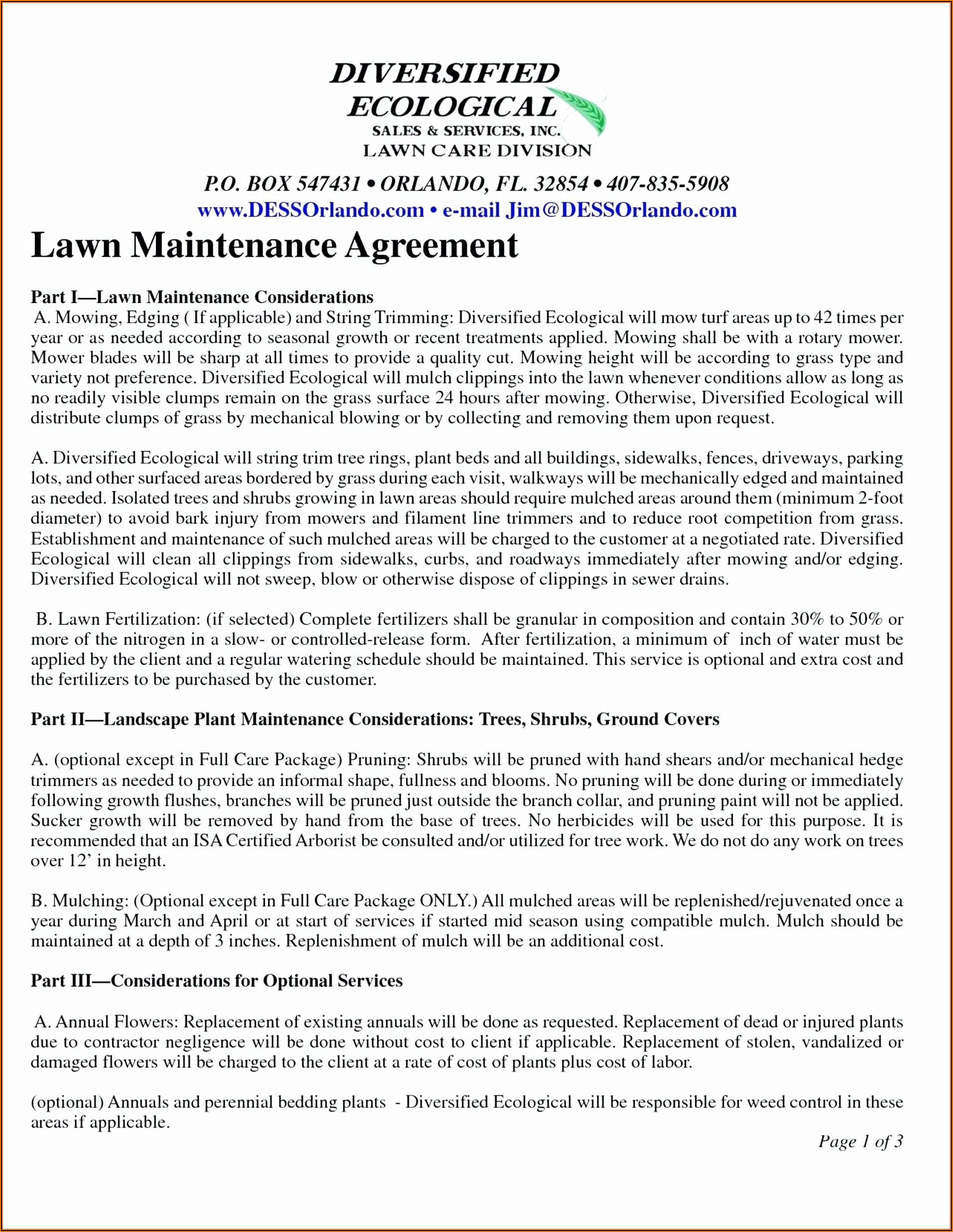 Free Landscape Bid Proposal Template