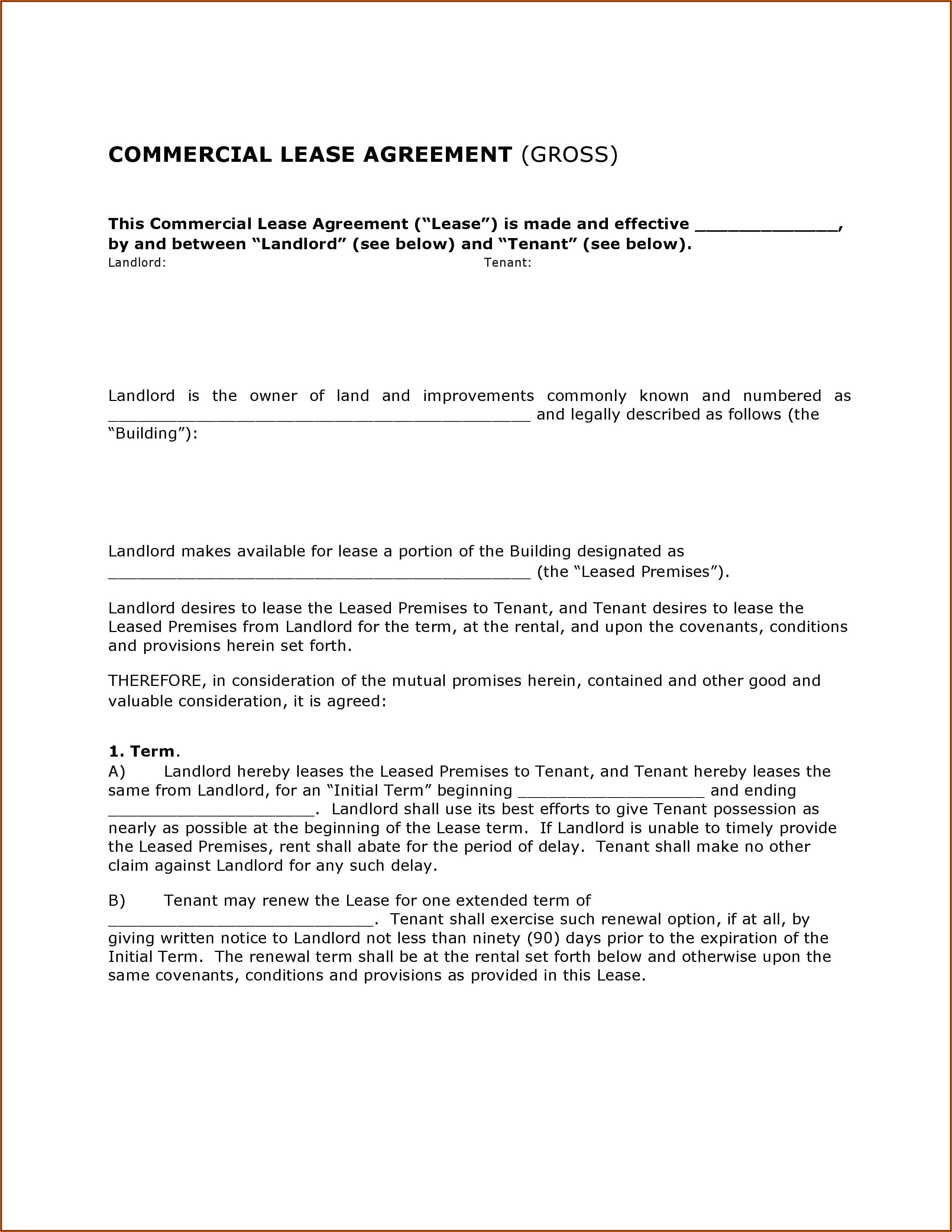 Free Lease Agreement Template Texas