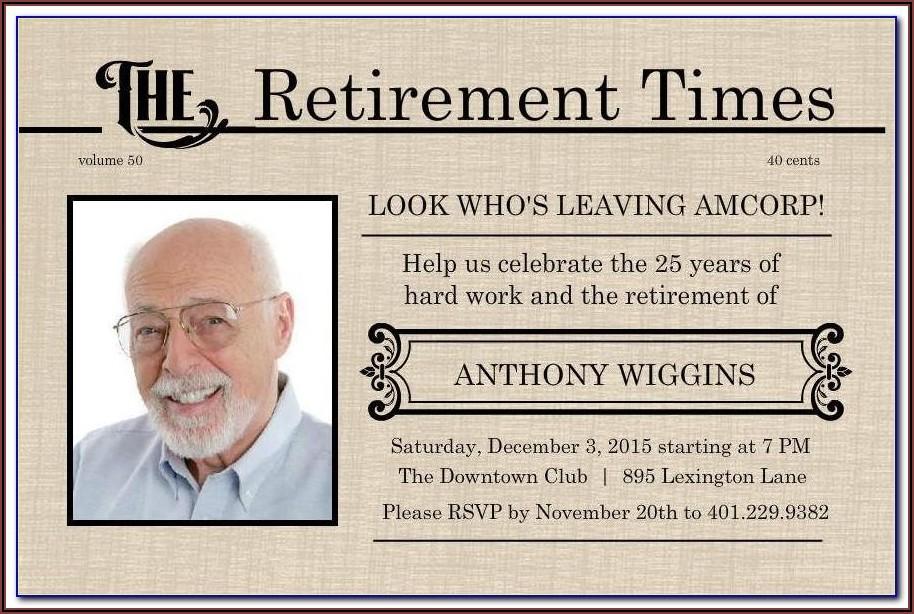 Free Online Retirement Invitation Templates