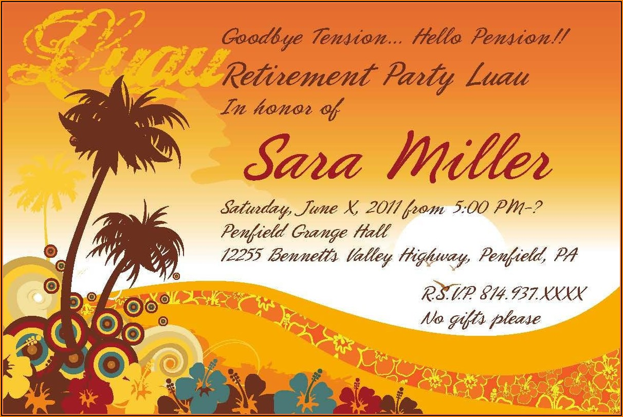 Free Printable Retirement Invitations Templates