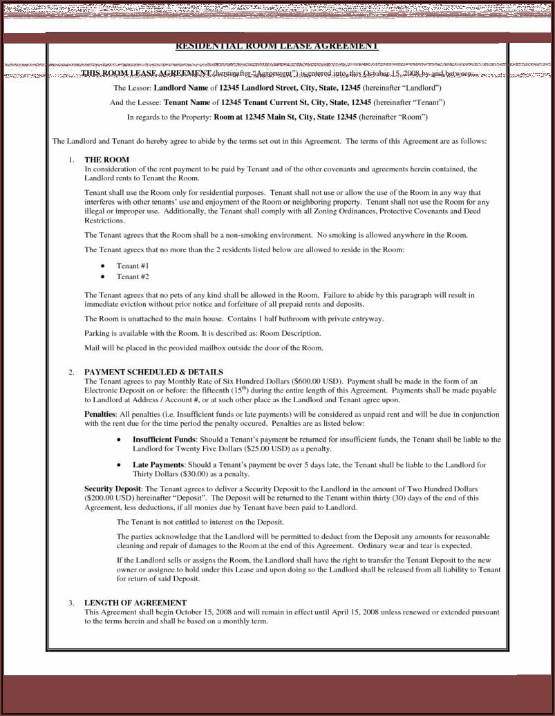 Free Rental Agreement Format In Word