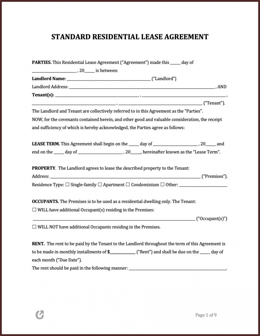 Free Rental Agreement Template Word South Africa