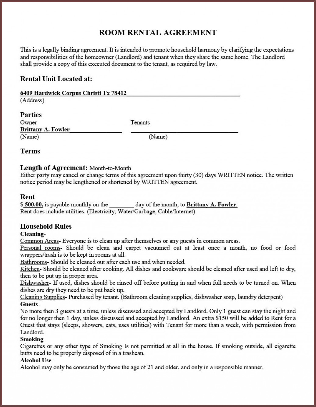 Free Rental Agreement Template Word Uk