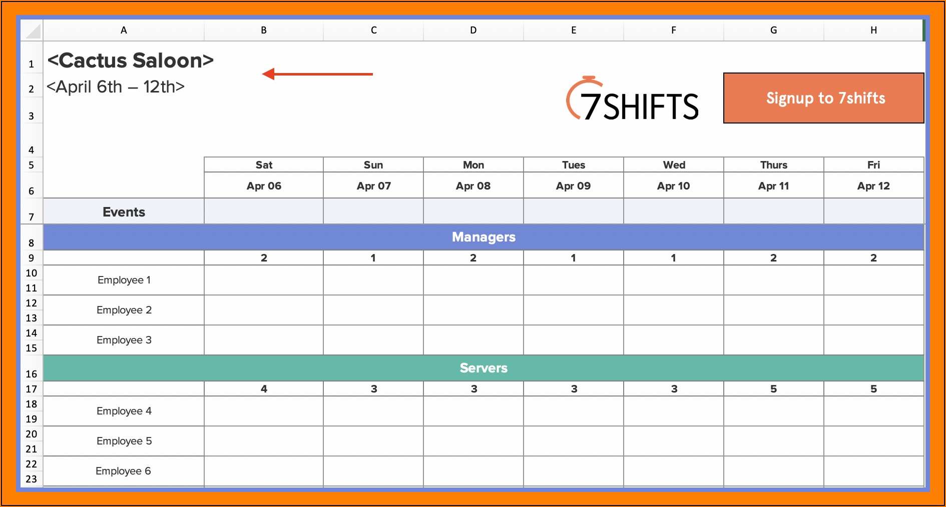 Free Weekly Employee Schedule Template Excel