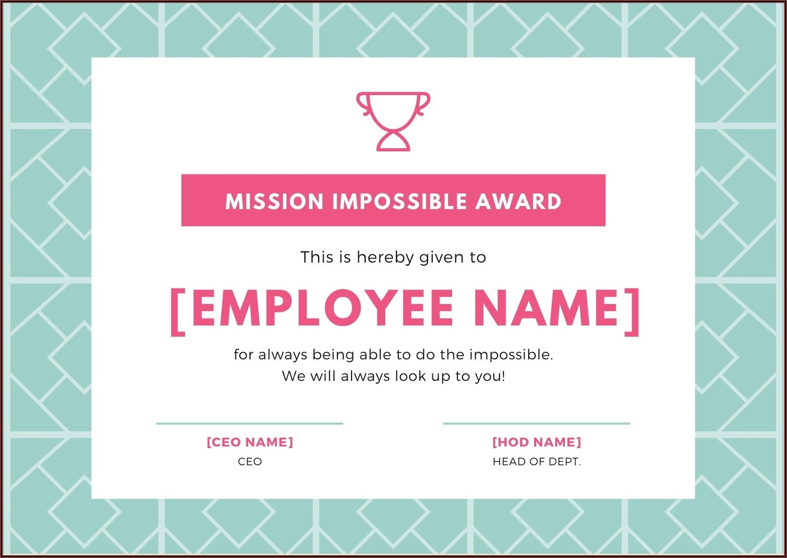 Funny Employee Recognition Awards Templates