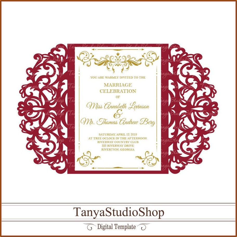 Gate Fold Invitation Template