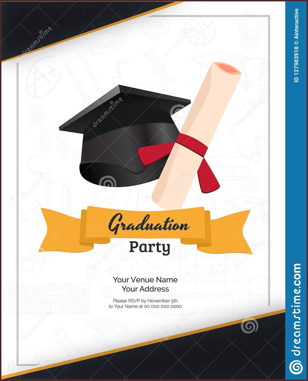 Graduation Day Invitation Design Templates