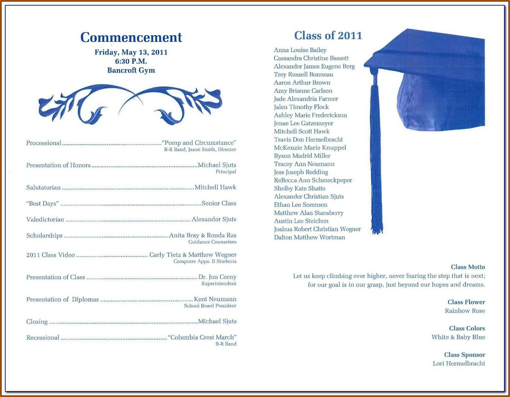 Graduation Party Program Format