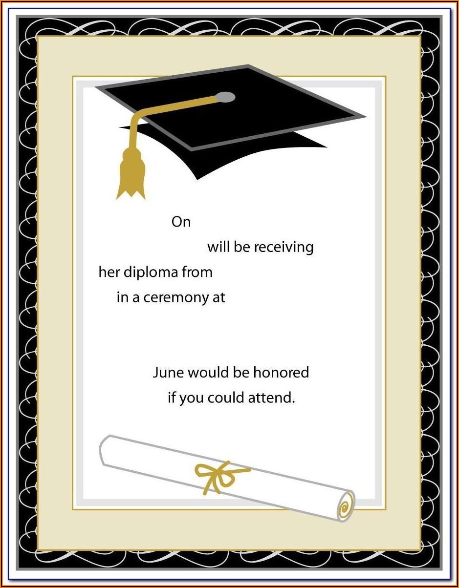 Graduation Party Program Templates Free