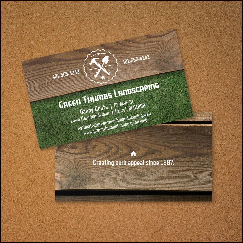Handyman Business Card Layout