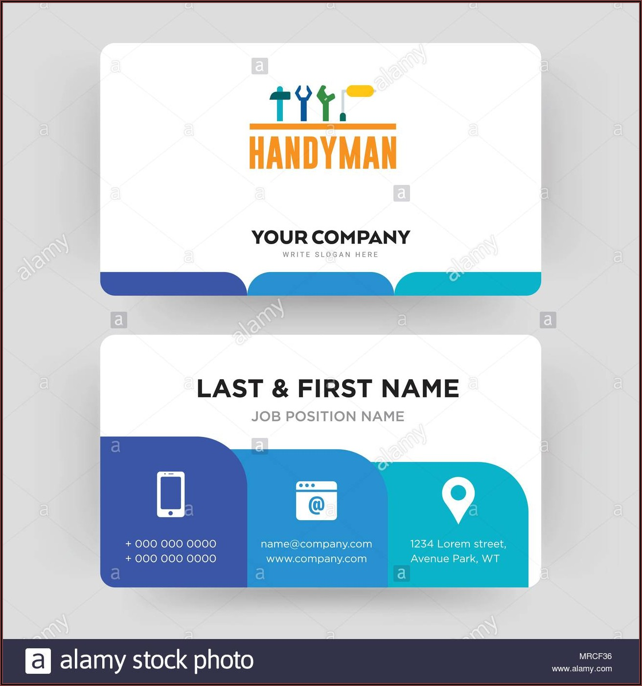 Handyman Business Card Template