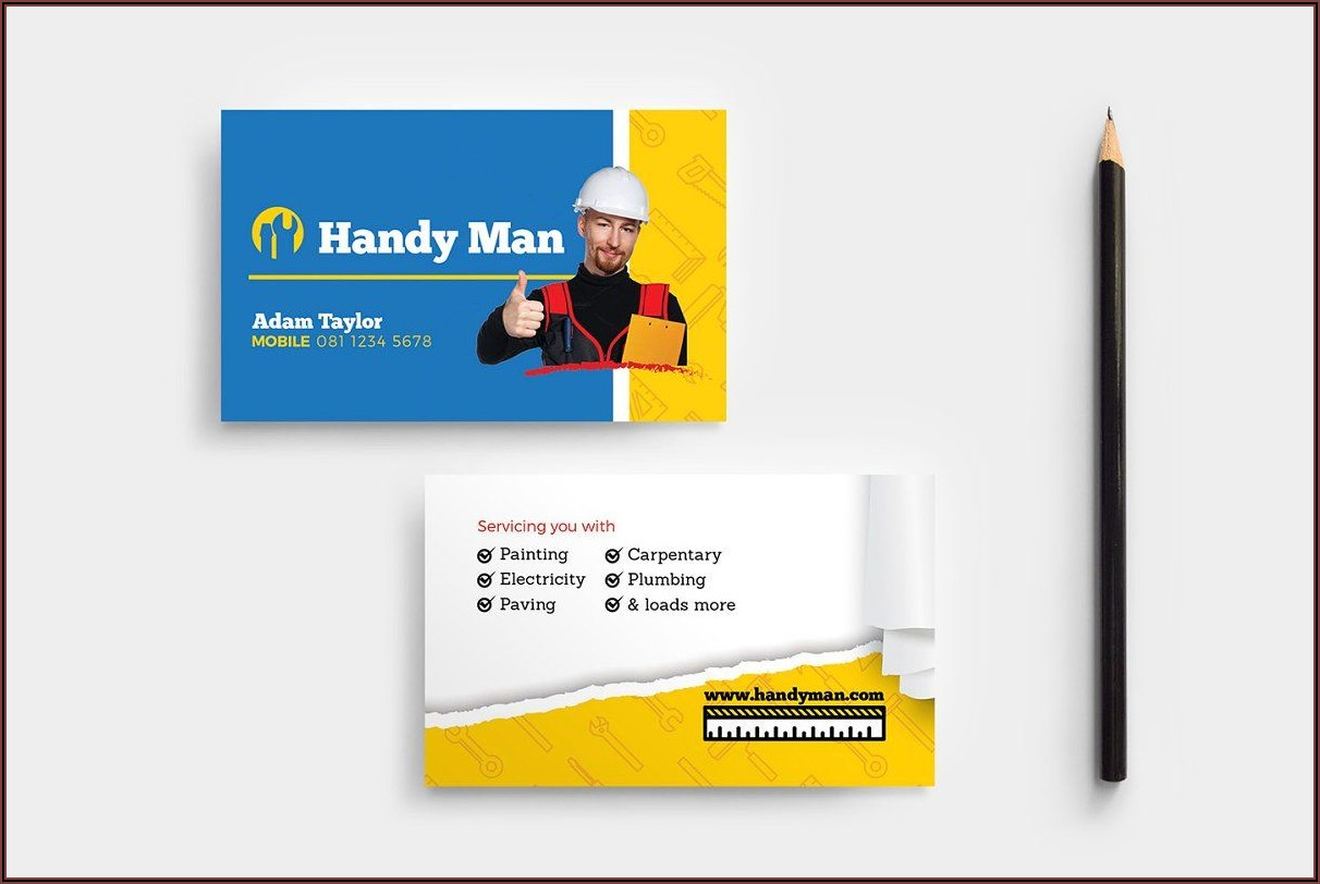 Handyman Business Card Templates Free